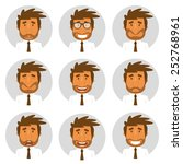 set round avatars with office... | Shutterstock .eps vector #252768961