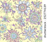 seamless vector pattern with... | Shutterstock .eps vector #252774139