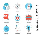 thin line icons of creative... | Shutterstock .eps vector #252776161