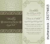 baroque wedding invitation card ... | Shutterstock .eps vector #252776815