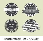 set of vintage retro premium... | Shutterstock .eps vector #252779839