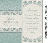 baroque wedding invitation card ... | Shutterstock .eps vector #252781087