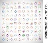 unusual monogram set   isolated ... | Shutterstock .eps vector #252784144