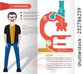 microscope puzzle info graphic... | Shutterstock .eps vector #252786259