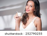 beautiful fashionable young... | Shutterstock . vector #252790255