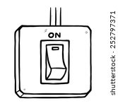 electric switch on   cartoon... | Shutterstock .eps vector #252797371