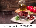 dried tomatoes with rosemary... | Shutterstock . vector #252801379