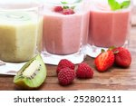 drink smoothies summer... | Shutterstock . vector #252802111