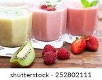 drink smoothies summer... | Shutterstock . vector #252802111