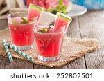 Watermelon Drink In Glasses...