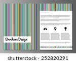 vector illustration of brochure ...   Shutterstock .eps vector #252820291