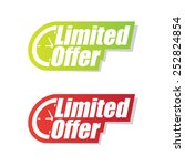 limited offer labels | Shutterstock .eps vector #252824854