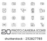 set of vector photo camera...