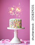 40th birthday cake with... | Shutterstock . vector #252829231