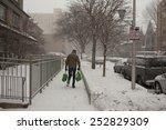 walking in snow  | Shutterstock . vector #252829309