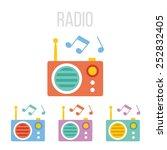 vector radio icons.