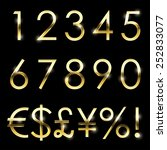 Vector Gold Font With...