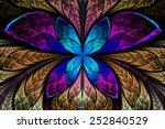 multicolored symmetrical... | Shutterstock . vector #252840529