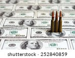 bullets on dollar bills ...   Shutterstock . vector #252840859