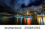ferry building and bay bridge... | Shutterstock . vector #252841501