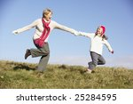 granddaughter running and... | Shutterstock . vector #25284595