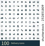 delivery icons vector set | Shutterstock .eps vector #252851809