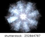 stained glass flower or... | Shutterstock . vector #252864787