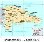 dominican republic country map | Shutterstock .eps vector #252864871