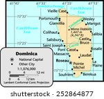 dominica country map | Shutterstock .eps vector #252864877