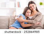 mother and teen daughter are... | Shutterstock . vector #252864985