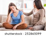 mother and teen daughter after... | Shutterstock . vector #252865099