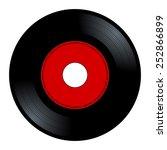 new gramophone vinyl. black... | Shutterstock .eps vector #252866899