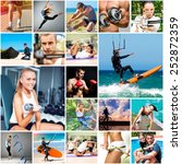 collage of photos about sport... | Shutterstock . vector #252872359