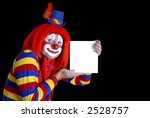 smiling clown holding blank sign | Shutterstock . vector #2528757