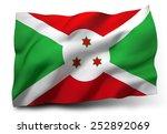 waving flag of burundi isolated ... | Shutterstock . vector #252892069