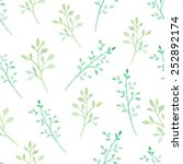 watercolor floral seamless... | Shutterstock .eps vector #252892174