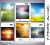 abstract blurred backgrounds.... | Shutterstock .eps vector #252898297