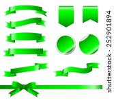 green ribbons set isolated on...   Shutterstock .eps vector #252901894