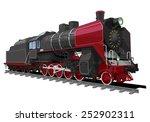illustration of a old steam...   Shutterstock .eps vector #252902311