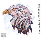 patterned head of eagle on the... | Shutterstock .eps vector #252902749