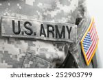usa flag and us army patch on... | Shutterstock . vector #252903799