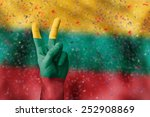 victory for lithuania | Shutterstock . vector #252908869
