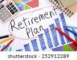 retirement plan  | Shutterstock . vector #252912289