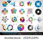 vector circular infographics... | Shutterstock .eps vector #252912391