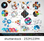 vector circular infographics... | Shutterstock .eps vector #252912394