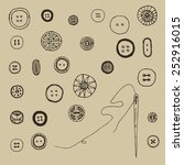 buttons doodle set | Shutterstock .eps vector #252916015
