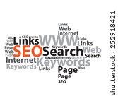 text cloud. seo wordcloud.... | Shutterstock .eps vector #252918421