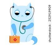 vector illustration of a cat... | Shutterstock .eps vector #252919909