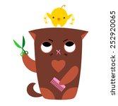 vector illustration of a cat... | Shutterstock .eps vector #252920065