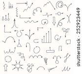 set of hand drawn arrows.... | Shutterstock .eps vector #252923449